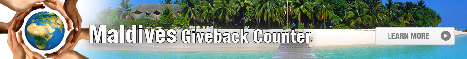 Maldives Giveback Counter